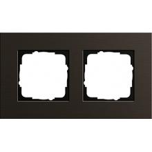 Рамка 2 м алюминий коричневого GIRA esprit 0212127