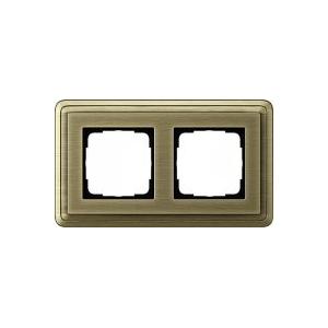 Рамка 2 поста GIRA ClassiX Бронза вставка 0212621
